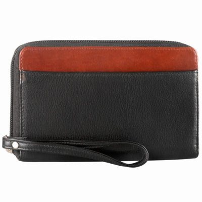 Leather Ladies' Wallet Zip Around (CD-576)