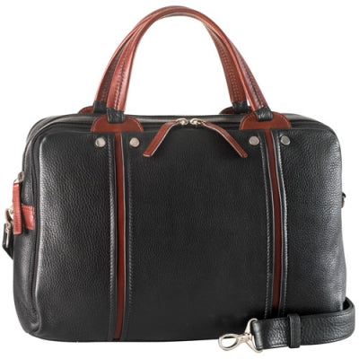 Leather Briefcase Ladies' 3 Compartment Tablet Friendly (PB-8130)