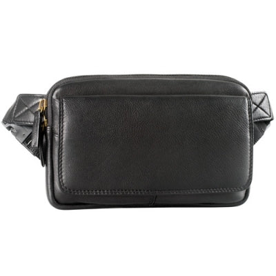 Leather Waist Pack Top Zip (FN-9009)