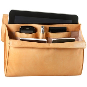 Leather Ladies' Handbag with Tablet Sleeve and Organizer (PB-8103)