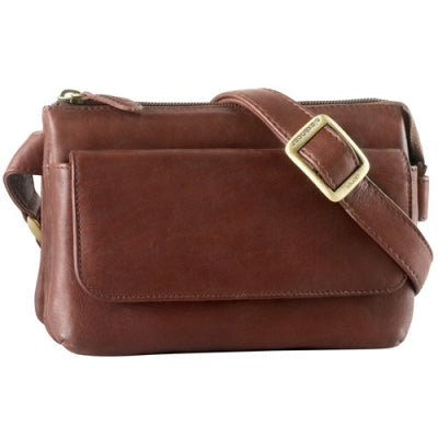 Leather Ladies' Handbag E/W Top Zip (FB-2164)