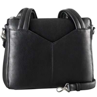 Leather Ladies' Handbag Double Handle/Tablet Friendly (CP-8815)