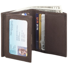 Load image into Gallery viewer, Leather Men's Wallet Trifold with ID Wing (CP-8443)
