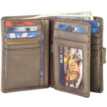 Load image into Gallery viewer, Leather Ladies' Wallet with Wing & Tab Closure (CP-8462)