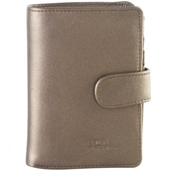Leather Ladies' Wallet with Wing & Tab Closure (CP-8462)