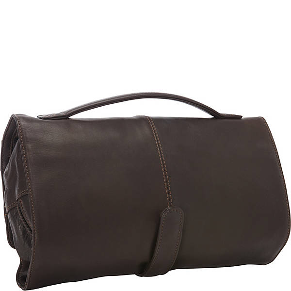 Leather Toiletry Bag Deluxe Roll Up (PB-1688)