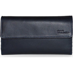 Leather Ladies' Wallet 3-Part Cheque Book (AZ-456)