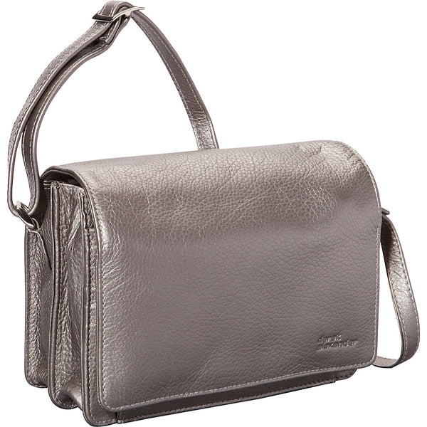Leather Ladies' Handbag Full Flap with Multi-Compartments and Organizer (CP-8782)