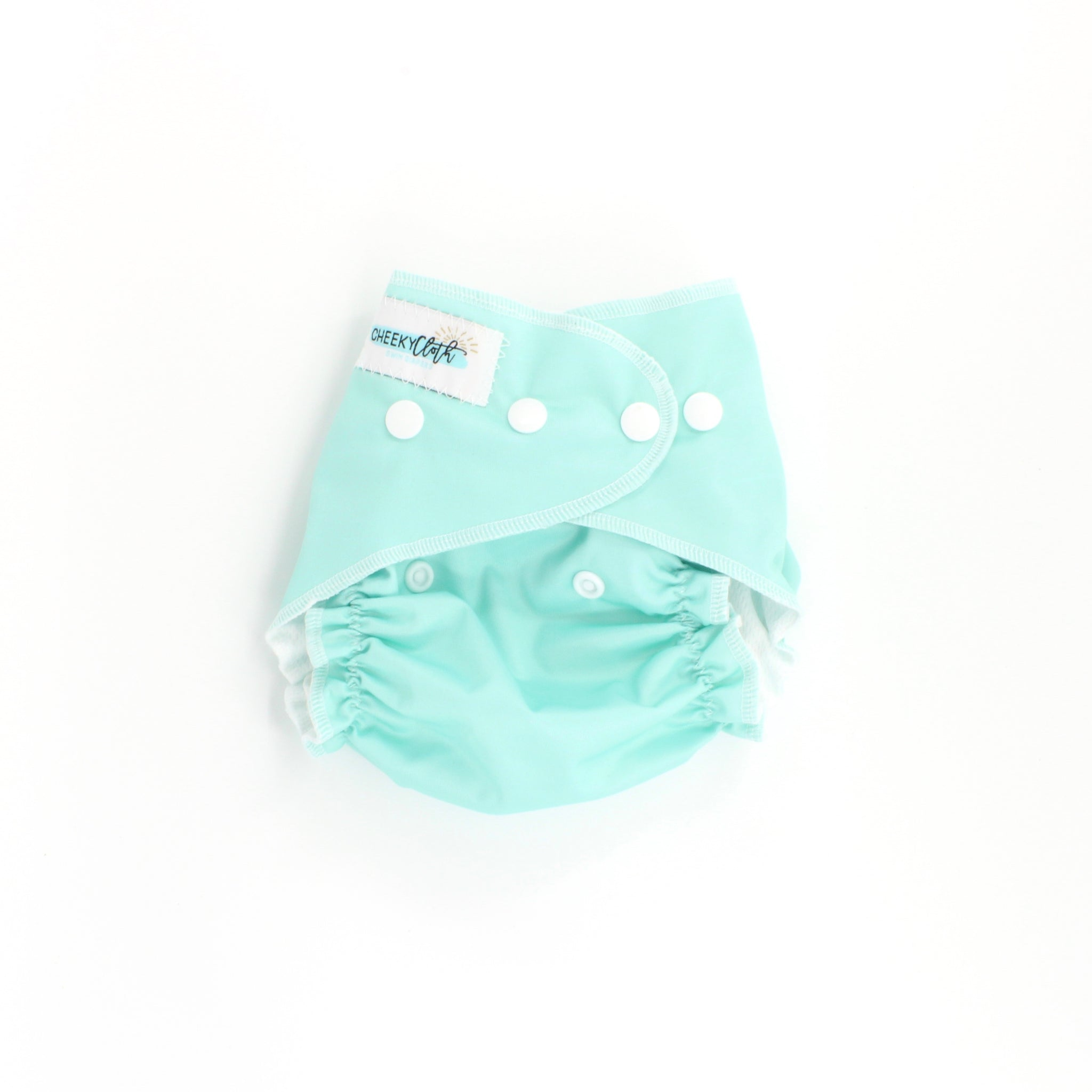 "Cheeky Cloth One Size Reusable Swim Diaper ""Tame Teal"""