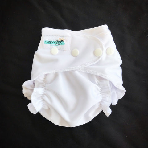 "Cheeky Cloth One Size Reusable Swim Diaper ""Bright White"""