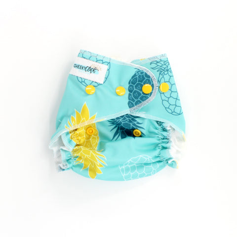 "Cheeky Cloth One Size Reusable Swim Diaper ""Pineapple"""