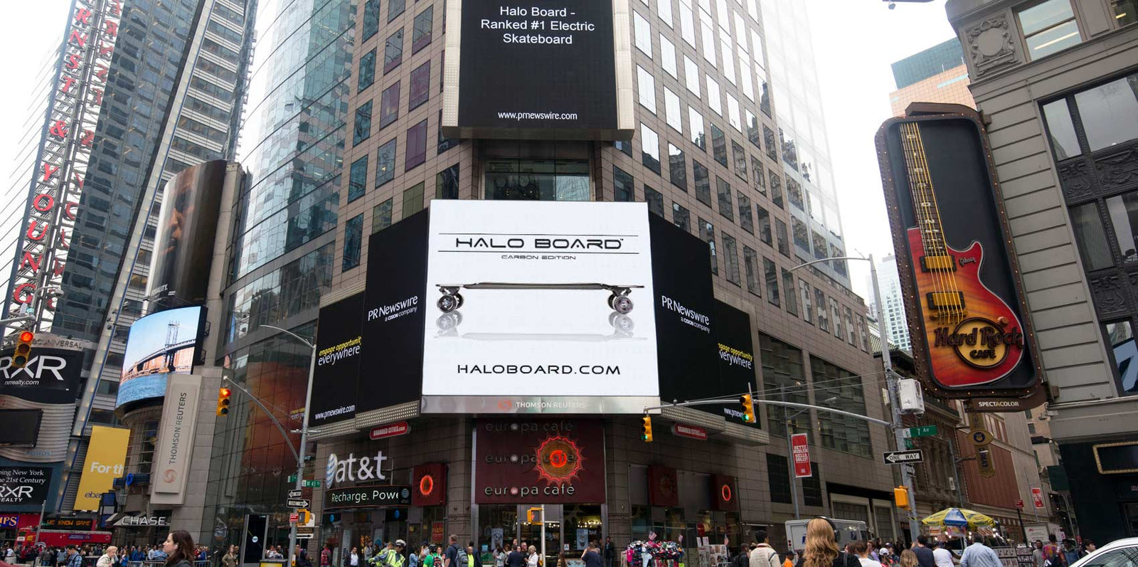 Halo Board Featured in New York Times Square