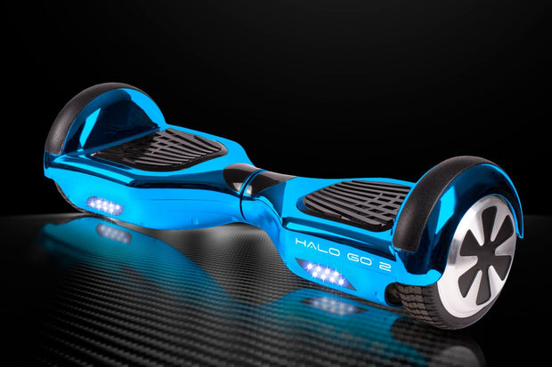 "Halo Go 2 Hoverboard 6.5"" - Chrome Blue - Halo Board"