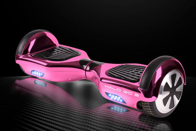 "Halo Go 2 Hoverboard 6.5"" - Chrome Pink - Halo Board"