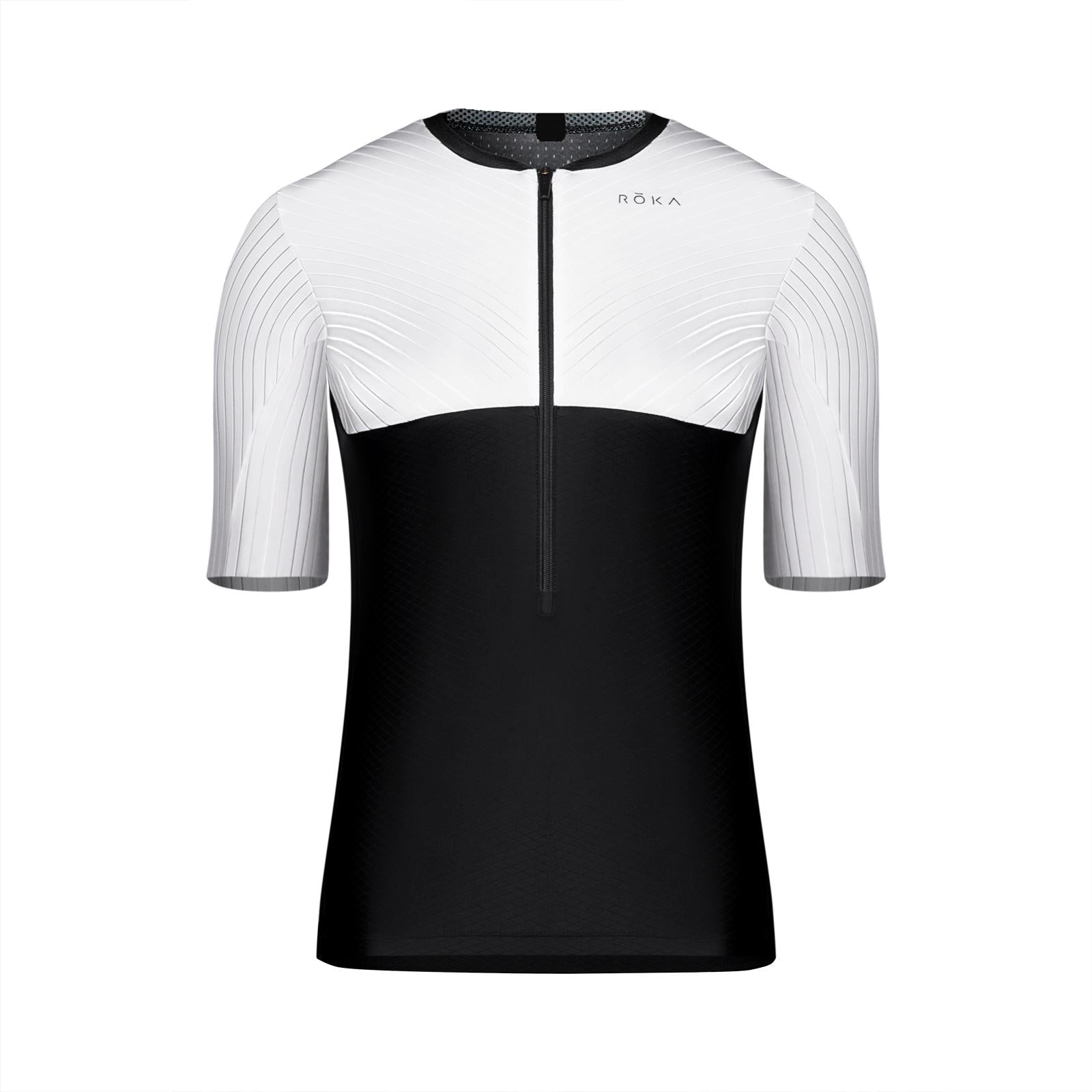 Women's Gen II Elite Aero Short Sleeve Tri Top - White/Black