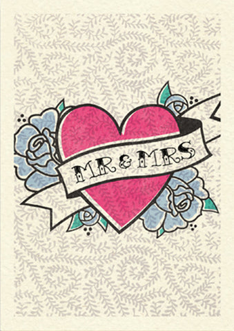 Pretty In Pink A4 Print: Wedding Love Heart