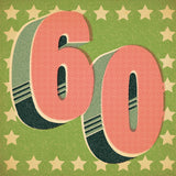 Retro Styled 60th Birthday Card