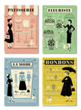Parisian Shops 'La Mode' A4 Print