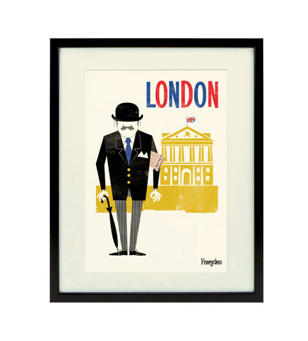 Capital Print, Framed: City Gent