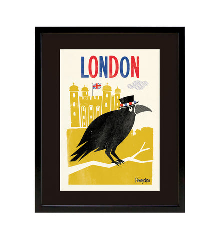 Capital Print, Framed: Raven