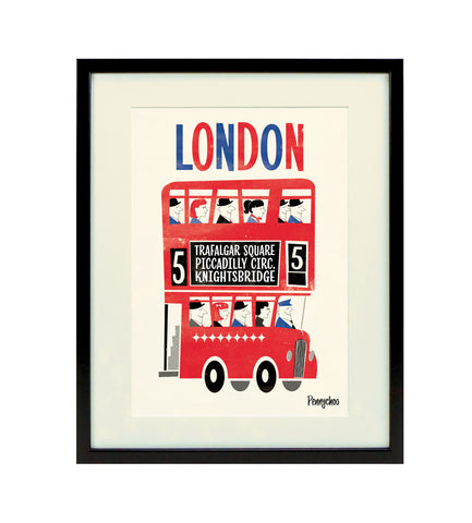 Capital Print, Framed: Routemaster