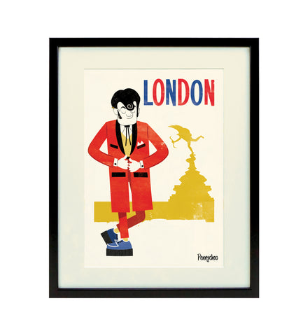 Capital Print, Framed: Teddy Boy