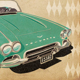 'Timeless Old Classic' Corvette Birthday Card