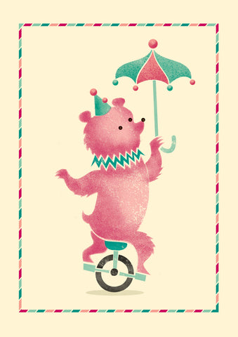Big Top A4 Print: Bear