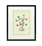 Big Top Framed Print: Juggling Dog