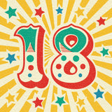 Circus Celebration 18th Birthday Card