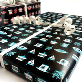 2  x Sheets of Wrapping Paper: Coast
