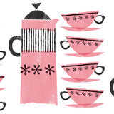 2  x Sheets of Wrapping Paper: Coffee Pots