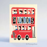 Retro London Postcard: Routemaster Bus