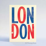 Retro London Postcard: LONDON