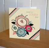 Floradeco 'Lovely Day' Greetings Card