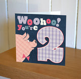 DibDab 2nd Birthday Card