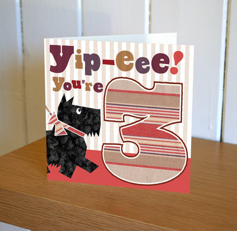 DibDab 3rd Birthday Card