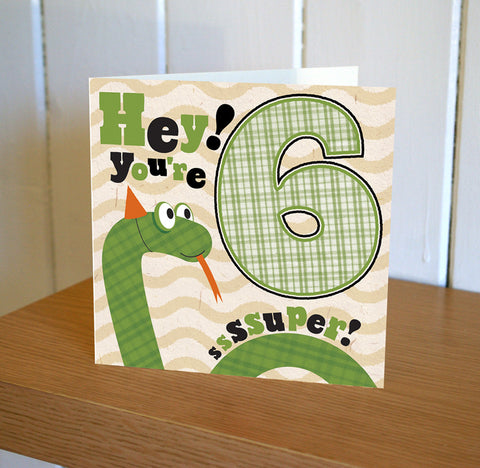 DibDab 6th Birthday Card