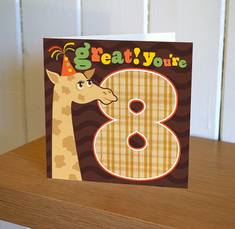 DibDab 8th Birthday Card
