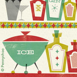 'Cocktail Hour' Midcentury Styled Birthday Card