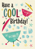 'Cool Birthday' Midcentury Styled Birthday Card