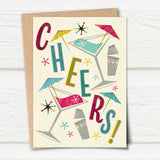 'Cheers' Midcentury Styled Card
