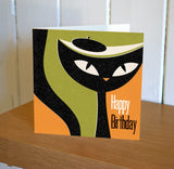 Jazz Cat Birthday Card