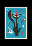 Solo Jazz Cat, Ready to Frame in A3 Mount