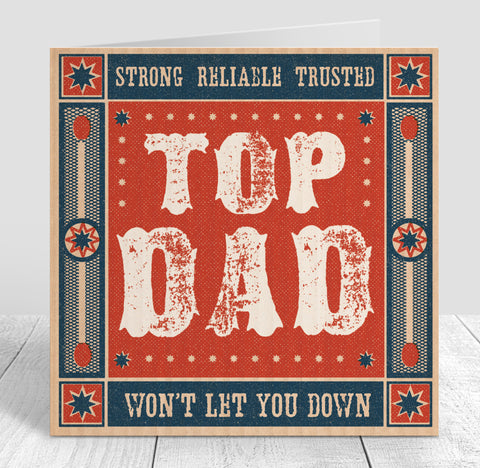 Matchbook 'Top Dad' Card