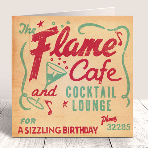 Matchbook 'Flame Cafe' Birthday Card