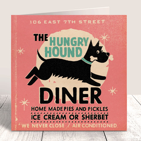 Matchbook 'Hungry Hound Diner' Card – Pink