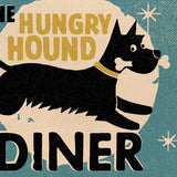 Matchbook 'Hungry Hound Diner' Card – Blue