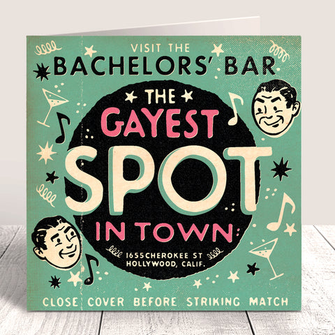 Matchbook 'Bachelors' Bar' Card - Green