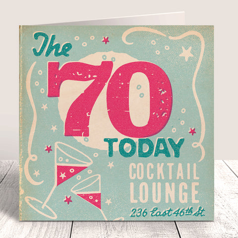 Matchbook 70 Today Birthday Card